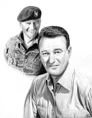 Drawing - John Wayne by Peter Piatt