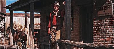 The Bunsen Burner - John Wayne porch of his sheriffs office Rio Bravo 1959 Old Tucson Arizona-2013 by David Lee Guss