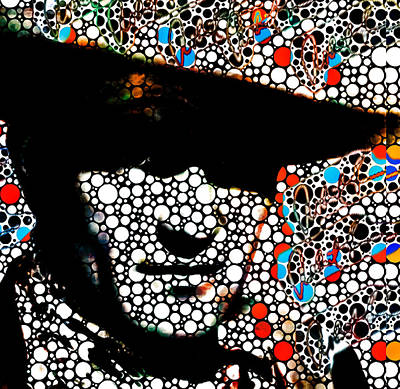 John Wayne Poster Prints Abstract Cowboy  Art Print