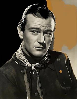 John Wayne  Publicity Photo In Costume Stagecoach 1939-2009 Art Print by David Lee Guss