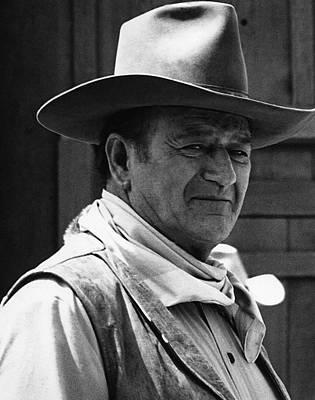 Shootist Photograph - John Wayne Rio Lobo Old Tucson Arizona 1970 by David Lee Guss