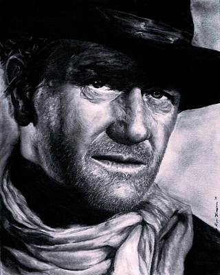 John Wayne Drawings Drawing - John Wayne by Ryan Jacobson