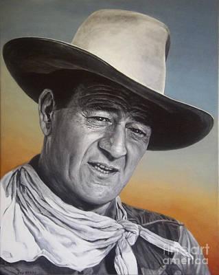 John Wayne Painting - John Wayne by Stu Braks