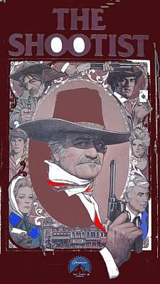Shootist Photograph - John Wayne The Shootist Amsel Art Work 1976-2013 by David Lee Guss