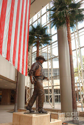 Photograph - John Wayne Tribute At Santa Ana Airport by Deborah Smolinske
