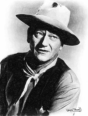 John Wayne Print by Wayne Pascall
