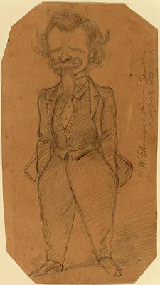 Self-portrait Drawing - John Whetten Ehninger, Self-portrait, American by Quint Lox