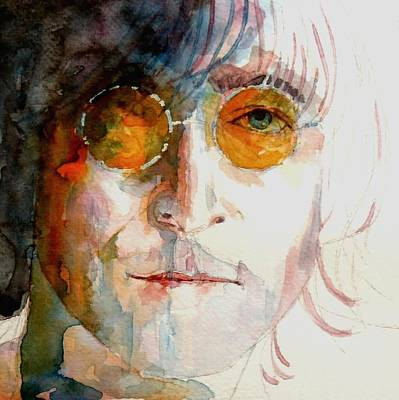 Lip Painting - John Winston Lennon by Paul Lovering