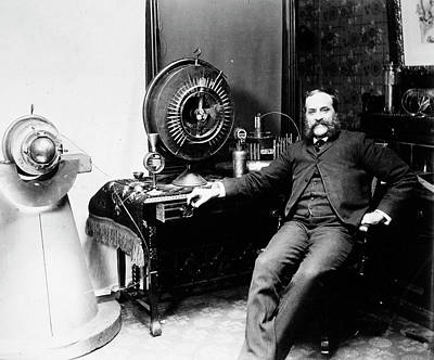Invention Of Motion Photograph - John Worrall Keely, C1895 by Granger