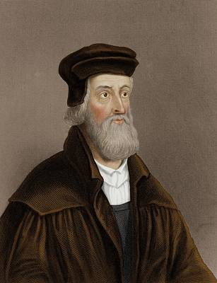 Protestant Photograph - John Wycliffe by Maria Platt-evans