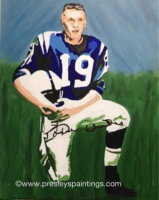 Nfl Legends Painting - Johnn U by Lisa Martin