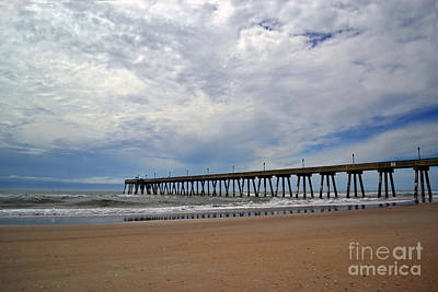 Wrightsville Beach Photograph - Johnnie Mercer Pier Reflections by Amy Lucid