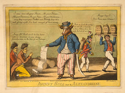 Long Center Drawing - Johnny Bull And The Alexandrians  Wm Charles, Ssc. Charles by Litz Collection