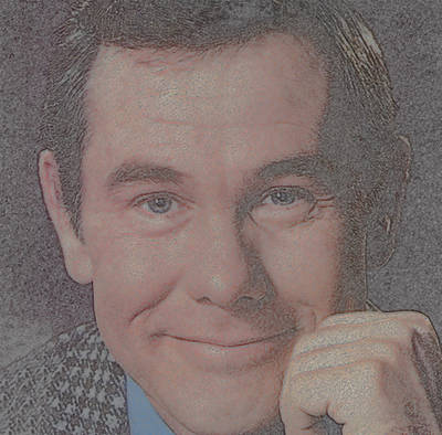 Johnny Carson Print by Douglas Settle