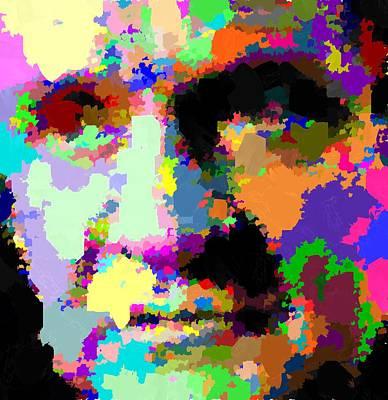 Painting - Johnny Cash - Abstarct by Samuel Majcen