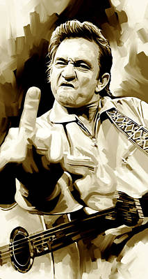 Johnny Cash Painting - Johnny Cash Artwork 2 by Sheraz A