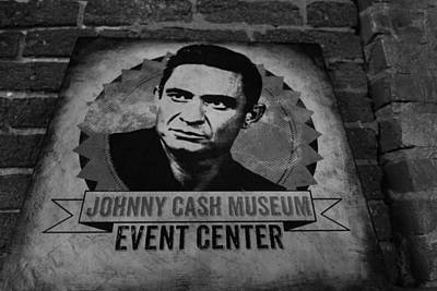 Vinyl Record Photograph - Johnny Cash Black And White by Dan Sproul