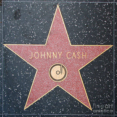 Photograph - Johnny Cash - Hollywood Walk Of Fame Star by Gregory Dyer