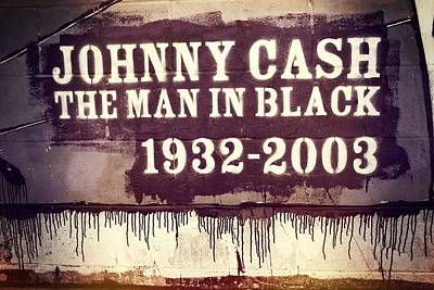 Country Music Hall Of Fame And Museum Photograph - Johnny Cash Memorial by Dan Sproul
