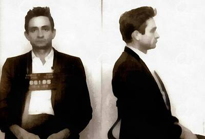 Carter Photograph - Johnny Cash Mugshot by Dan Sproul
