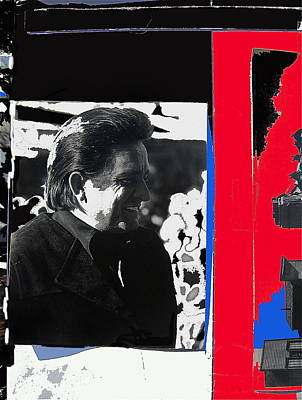 Art Print featuring the photograph Johnny Cash  Smiling Collage 1971-2008 by David Lee Guss