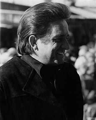 Art Print featuring the photograph Johnny Cash Smiling Old Tucson Arizona 1971 by David Lee Guss