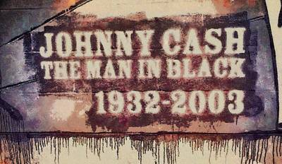 Johnny Cash Mixed Media - Johnny Cash Tribute by Dan Sproul