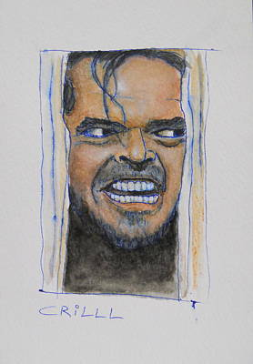 Jack Nicholson Mixed Media - Johnny by Crilll Cracraft