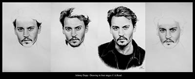 Johnny Depp 4 Art Print by Andrew Read