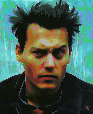 Johnny Depp Digital Art - Johnny Depp by  Fli Art