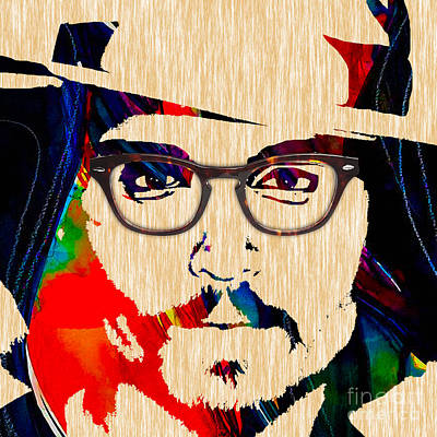 Movie Art Mixed Media - Johnny Depp Collection by Marvin Blaine