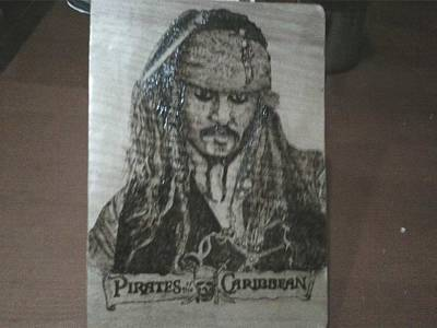 Pyrography On Wood Pyrography - Johnny Depp by Marko Safran