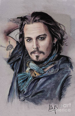 Johnny Depp Drawing - Johnny Depp by Melanie D