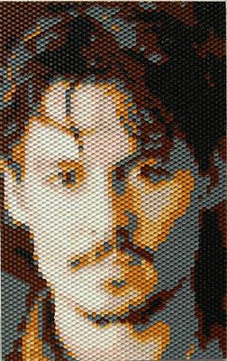 Painting - Johnny Depp - Honeycomb by Samuel Majcen