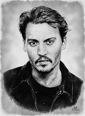 Johnny Depp Digital Art - Johnny Depp Stained by Andrew Read