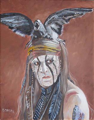 Lone Ranger Painting - Johnny Depp - Tonto by Kathie Camara