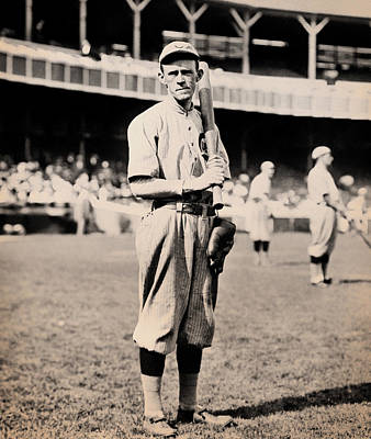 Johnny Evers 1910 Print by Mountain Dreams