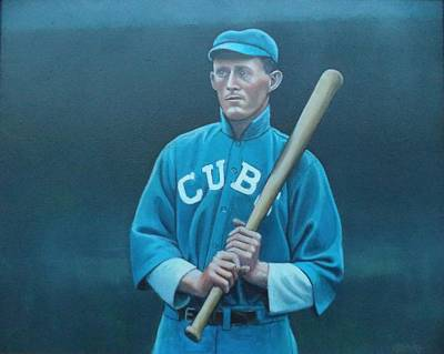 Painting - Johnny Evers by Mark Haley