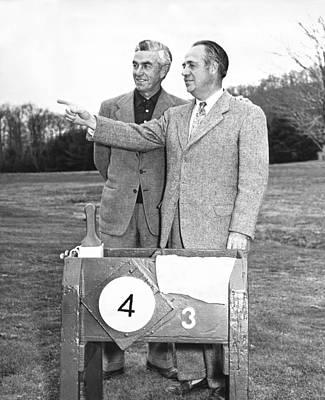 Photograph - Johnny Farrell & Robert Jones by Underwood Archives