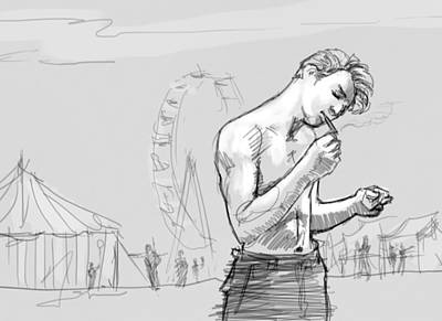 Male Digital Art - Johnny by H James Hoff