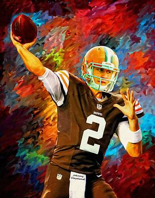 Johnny Manziel Cleveland Browns Football Art Painting Art Print