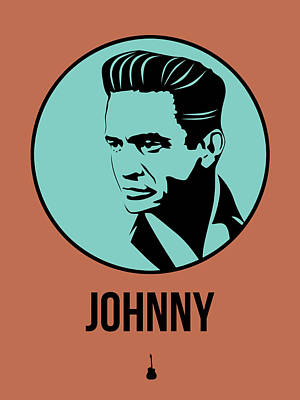 Johnny Cash Digital Art - Johnny Poster 1 by Naxart Studio