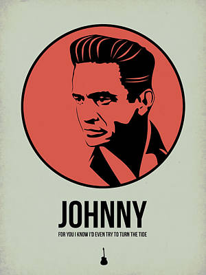 Johnny Cash Digital Art - Johnny Poster 2 by Naxart Studio