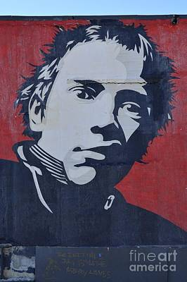 Photograph - Johnny Rotten by Allen Beatty