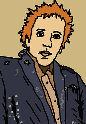 Irish Rock Band Digital Art - Johnny Rotten by Jera Sky