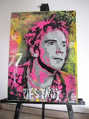 Wiz Khalifa Painting - Johnny Rotten by John Little