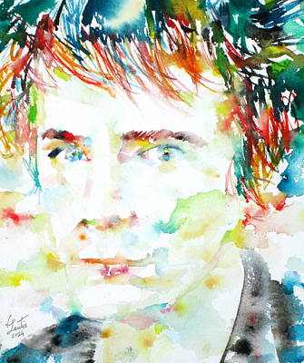 Johnny Rotten Painting - Johnny Rotten - Watercolor Portrait by Fabrizio Cassetta