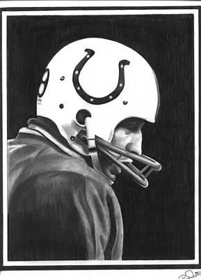 Johnny Unitas Art Print by Billy Burdette