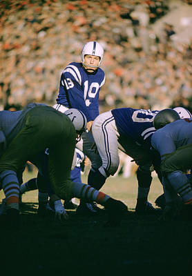 Johnny Unitas Ready  Art Print by Retro Images Archive