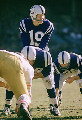 Johnny Unitas Under Center Print by Retro Images Archive